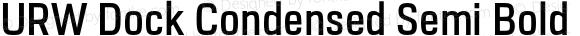 URW Dock Condensed Semi Bold
