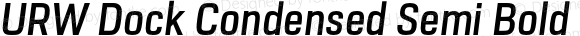 URW Dock Condensed Semi Bold Italic