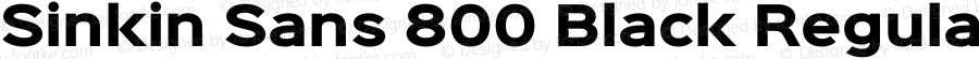 Sinkin Sans 800 Black