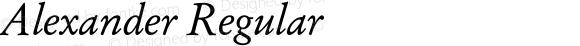 Alexander Regular