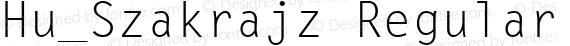 Hu_Szakrajz Regular preview image