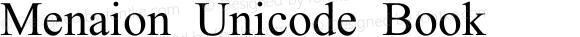 Menaion Unicode Book