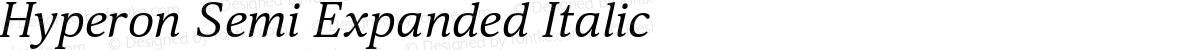 Hyperon Semi Expanded Italic