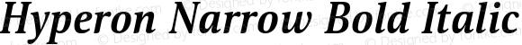 Hyperon Narrow Bold Italic