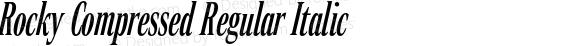 Rocky Compressed Regular Italic