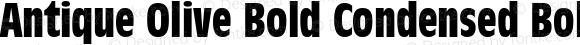 Antique Olive Bold Condensed Bold Condensed 001.001