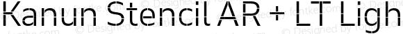 Kanun Stencil AR + LT Light