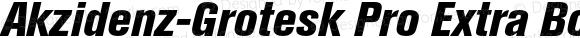 Akzidenz-Grotesk Pro Extra Bold Condensed Italic