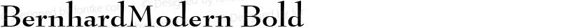 BernhardModern Bold Preview Image