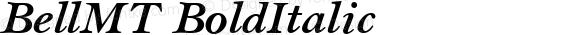 BellMT BoldItalic Version 1.00