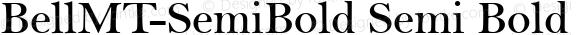 BellMT-SemiBold Semi Bold Version 1.00