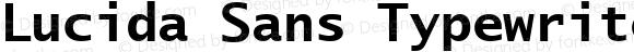 Lucida Sans Typewriter CE Bold
