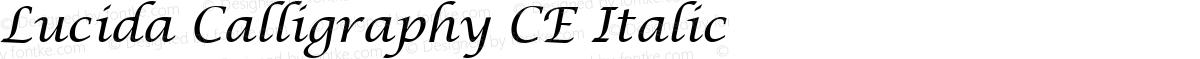 Lucida Calligraphy CE Italic