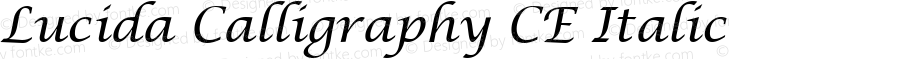 Lucida Calligraphy CE Italic Version 1.01