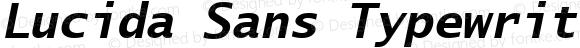 Lucida Sans Typewriter CE Bold Oblique