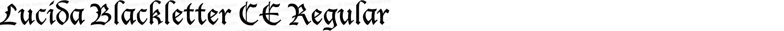 Lucida Blackletter CE Regular