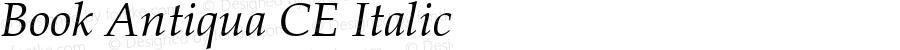 Book Antiqua CE Italic Version 1.4 - East European character set