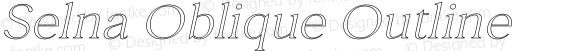 Selna Oblique Outline