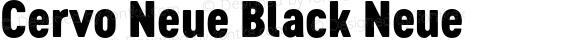 Cervo Neue Black Neue