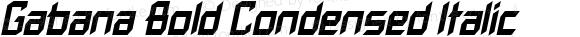 Gabana Bold Condensed Italic