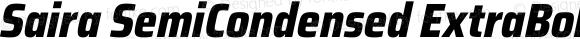 Saira SemiCondensed ExtraBold Italic