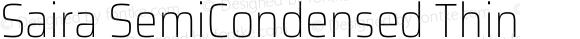 Saira SemiCondensed Thin