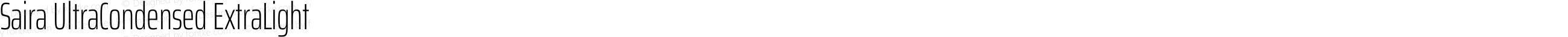 Saira UltraCondensed ExtraLight