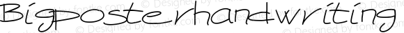 Bigposterhandwriting