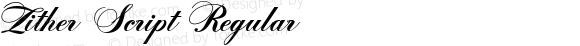 Zither Script Regular Macromedia Fontographer 4.1 9-8-99