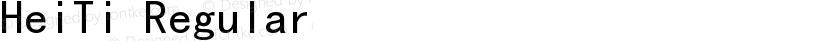 HeiTi Regular Preview Image