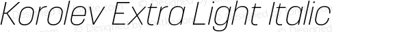 Korolev Extra Light Italic