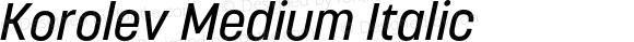 Korolev Medium Italic