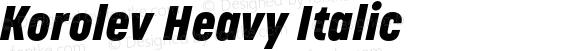 Korolev Heavy Italic