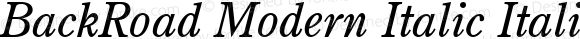 BackRoad Modern Italic
