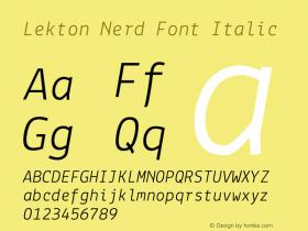 Lekton Nerd Font