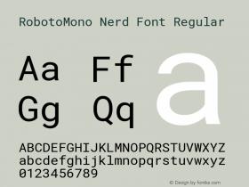 RobotoMono Nerd Font