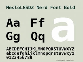 MesloLGSDZ Nerd Font
