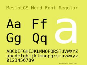 MesloLGS Nerd Font