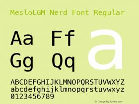 MesloLGM Nerd Font