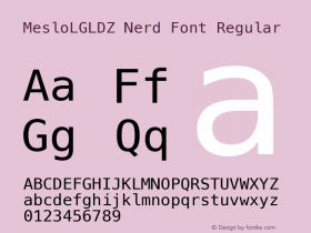 MesloLGLDZ Nerd Font