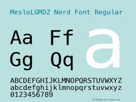 MesloLGMDZ Nerd Font