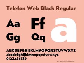 Telefon Web Black