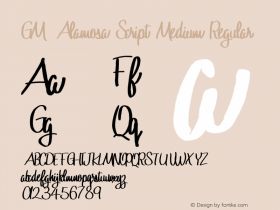 GM Alamosa Script Medium