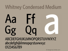 Whitney Condensed