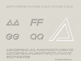 Earth Orbiter Outline Italic