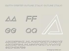 Earth Orbiter Outline Italic