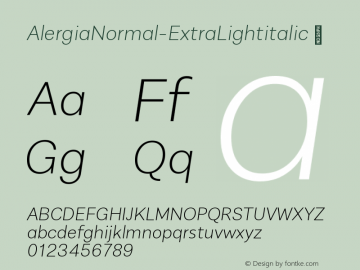 AlergiaNormal-ExtraLightitalic