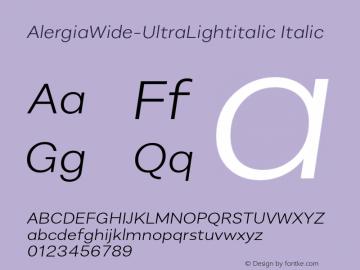 AlergiaWide-UltraLightitalic