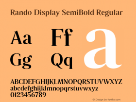 Rando Display SemiBold