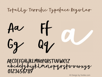 Totally Terrific Typeface
